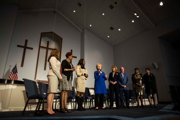 Gabrielle Giffords Joins Hillary Clinton in South Carolina to Pay Tribute to Victims of Gun Violence